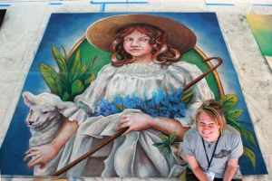 Little Bo Peep Chalk Art by charfade