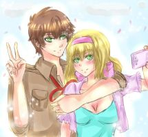 AT with KIMKIM14 : Spain and Belgium by Yuri-chan24