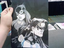 DragonCon Batgirl Nightwing by thejeremydale
