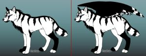 Wolf-Make OC- Xane- With or Without by Coraline15