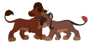 Lion Cuddle *Collab* by RaindropLily