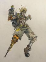 Overwatch Junkrat Finished by Johnsmith8989