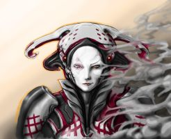 Warframe Fanart: Mirage unhelmed eclipse by N4n0-1805