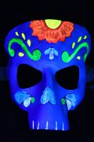 Day of the dead blacklight mas by SilverCicada