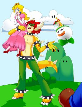 Bowser Has Kidnapped the Princess!! by Z-Graves