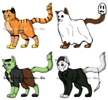 Halloween Cat Adopts .::2 OPEN::. by CookieAdopts