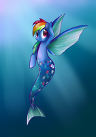 Mermaid:Rainbow.Dash: by Rayne-Is-Butts