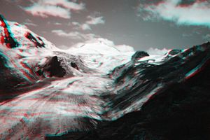 Pasterze in the 90s anaglyph by rdevill