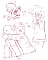Some doodles of couples lol by Lillyfan123