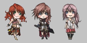 Final Fantasy chibis 3 by Airafleeza