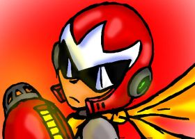 Proto Man close up by erik-red
