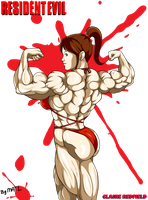 Claire Redfield - Back double biceps by MATL