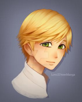 Color Experimenting - Adrien Agreste by Love2DrawManga