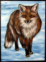 Red Fox in the Snow by SN--ART
