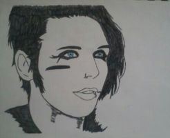 Andy Biersack Potrait 2 by ChrisTheFox3