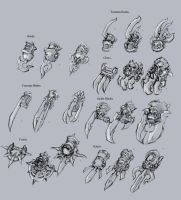 Darksiders II weapon concepts Claws by DawidFrederik