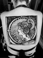 Alphonse Mucha and henna2 by cydienne