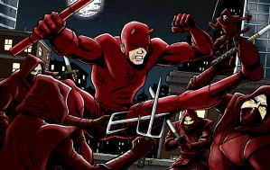 Daredevil VS The Hand by Tim4