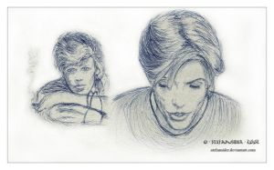two faces of Bowie by Stefansider