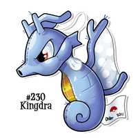 Kingdra Patchwork by cartoonist