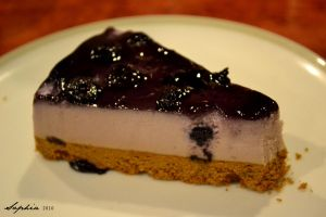 Blueberry cheesecake by clongetch
