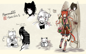 [Closed] Mamemamono Adopt ver. Maneki-neko by mayoujii