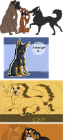 Dog Chibi Spam by Rabentag