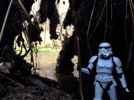 Storm Trooper in Swamp Cave by TheLittlestGiant