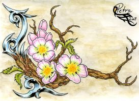 Tattoo Tribal: Cherry Blossoms by evilorchid