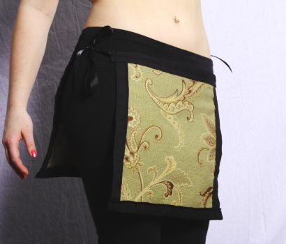 Panel Skirt--Green Brown Lotus by EmilyNorthey