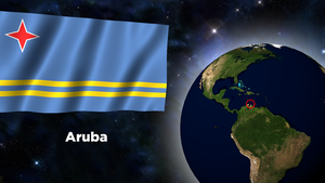 Flag Wallpaper - Aruba by darellnonis