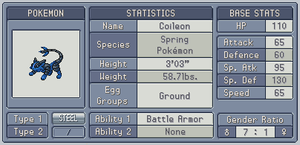 Fakedex Stats: Coileon by Wooded-Wolf