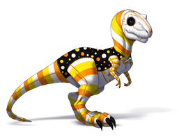 Candy Corn Curse Baby T-Rex by Khimera