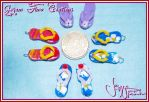 Miniature Flip-Flops Charms by Jeyam-PClay