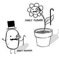 Fancy Potater, Fancy Flower by arseniic