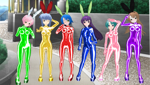 Do You Like Horny Bunnies 2 Girls bodysuits by quamp