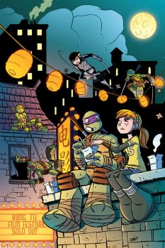 TMNT Animated#7 RI Cover by angieness