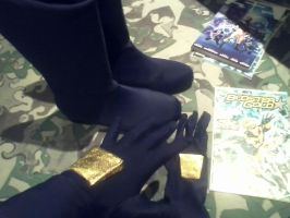 Booster Gold Gloves + Boots by whiskers