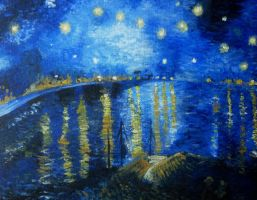 Starry Night Over The Rhone by C-h-a-r-l-i