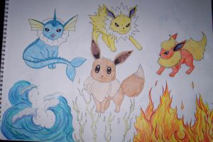The Many Faces of Eevee by HideTheKnives
