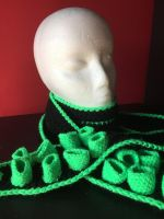 Neon Green and Black Tentacle Scarf by AlleyKat666