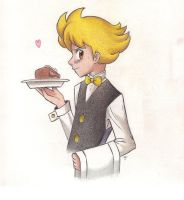 Waiter Barry by Phoelion