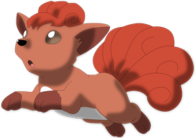 My fourth vector of Vulpix. Version 2. by Flutterflyraptor