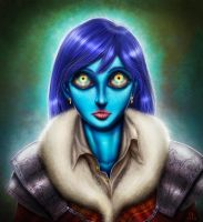 the eyes and the blue by Dogsfather