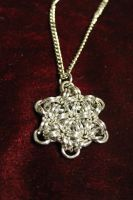 Chainmaille Star of David/Snowflake by medievalfaery