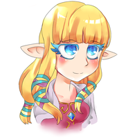 Zelda thinks she's cool by Rencudia