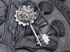 Steampunk Silver Dream Key by Hiddendemon-666