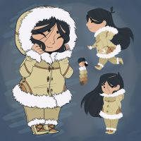 Character Concept_Inuit Girl by Pandas-R-Us
