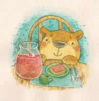 Paddington's Breakfast by Adelaida