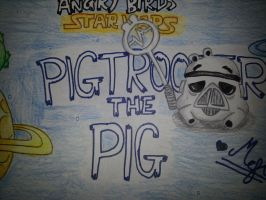 Angry Birds Star Wars:Pigtrooper[Pig] by MeganLovesAngryBirds